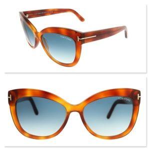 New TOM FORD Alistair Cat Eye Sunglasses